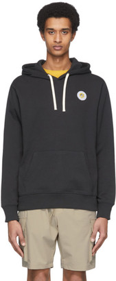 Saturdays NYC Black Ditch Daisy Patch Hoodie