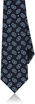 Gucci Men's Paisley Silk Necktie-NAVY