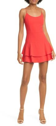 Alice + Olivia Palmira Double Ruffle Fit & Flare Minidress