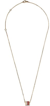 Boucheron 18kt white, yellow and rose gold Quatre Mini Ring pendant necklace