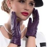 Matsu Gloves MATSU Fashion Women Winter Warm Leather Gloves 5 Colors M9213