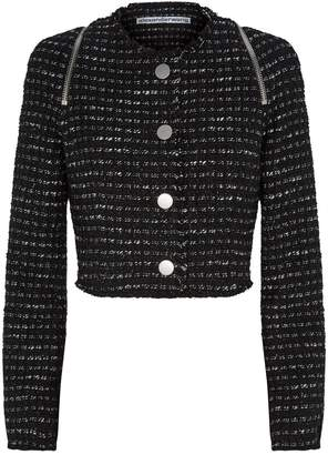Alexander Wang Cropped Tweed Jacket