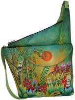 Anuschka Hand-Painted Leather Asymmetric Slim Crossbody