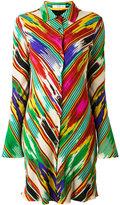 Etro blurry stripes elongated shirt