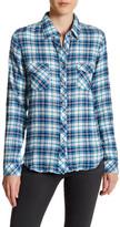 Love Stitch Long Sleeve Plaid Button Up Shirt