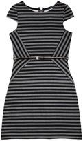 Us Angels Girls' Asymmetric Striped Dress