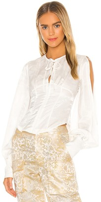 Kim Shui Silk Shirt Bustier