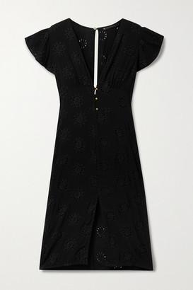 Vix Romance Broderie Anglaise Voile Dress - Black