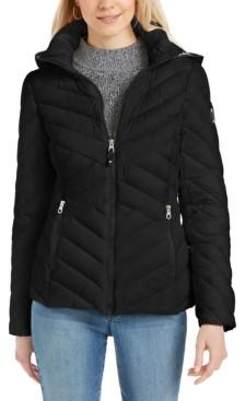 Nautica Hooded Packable Puffer Jacket