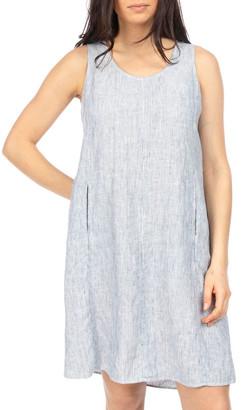 Jump Stripe Pleat Back Dress