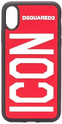 DSQUARED2 Icon logo-print iPhone X/XS case