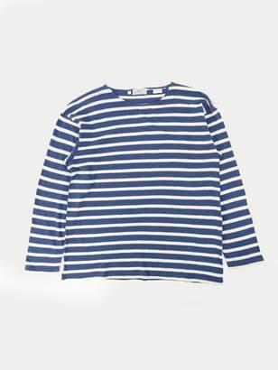 Levi's Bay Meadows L S T Shirt Blue Cream - Small / Blue