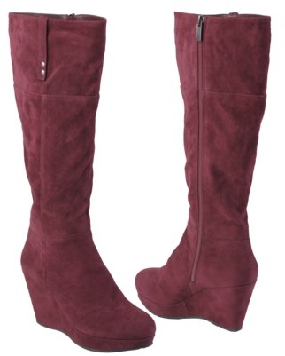 Boots Womens' Hailey Jeans Co Sueded Tall Wedge