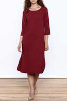 Everly Stunning Red Midi Dress