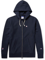 Beams Champion Printed Cotton-Jersey Zip-Up Hoodie