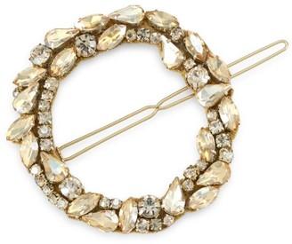 Deepa Gurnani Dar Mixed Crystal Open Circle Barrette
