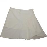 Christian Dior White Silk Skirt