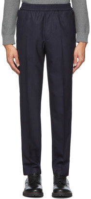 Harmony Navy Wool Paolo Trousers