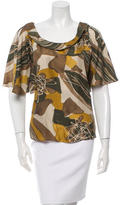 Rachel Zoe Printed Silk Top