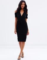 Miss Selfridge Plisse Midi Dress