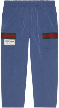 Gucci Children's nylon trousers with Web