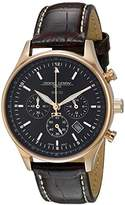 Jorg Gray Women's Quartz Watch with Black Dial Chronograph Display and Brown Leather Strap JG6500-22