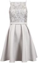 Quiz Silver Sequin Embellished High Neck Short Dress