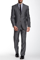 David Donahue Ryan Grey Two Button Notch Lapel Classic Fit Wool Suit
