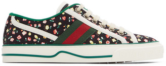 Gucci Black Floral Tennis 1977 Sneakers