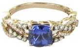 LeVian Le Vian 14K Rose Gold Tanzanite 1.40ct Vanilla Diamond Ring Size 7