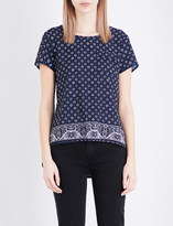French Connection Altman floral-print crepe top