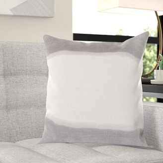 "Wade Logan Selena Double Dip 100% Linen Throw Pillow Cover Size: 18"" H x 18"" W x 0.25"" D"