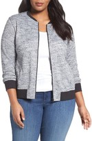 Sejour Plus Size Women's Sweater Knit Bomber Jacket