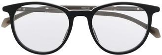 HUGO BOSS Round-Frame Clear-Lens Eyeglasses