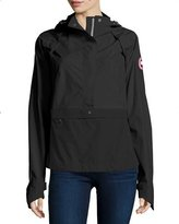 Canada Goose Brunswick Hooded Colorblock Anorak Jacket, Black/Silver Birch