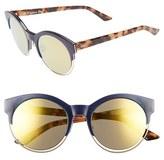 Christian Dior Women's 'Sideral 1' 53Mm Sunglasses - Black/ Blue