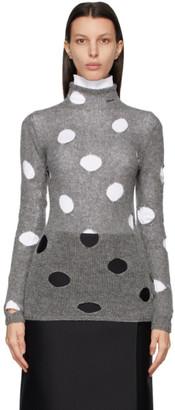 Prada Grey Shetland Wool Sweater