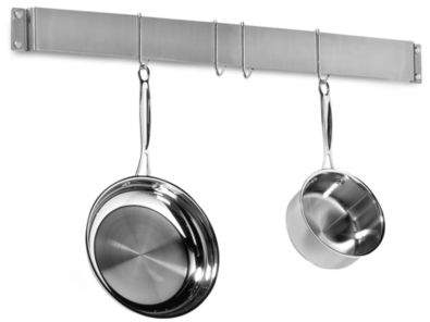Cuisinart Brushed Stainless Steel Wall Bar Pot Rack