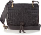 Elizabeth and James Zoe crocodile-effect saddle cross-body bag