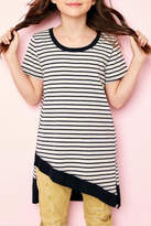 Hayden Los Angeles Asymmertrical Striped Top