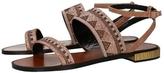 Lola Cruz Rhinestone Double-Strap Sandal