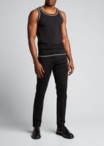 Dolce & Gabbana Men's Jersey Tank Top w/ Contrast Stitching