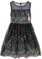 Speechless Girls 7-16 Confetti Sequin Illusion Dress