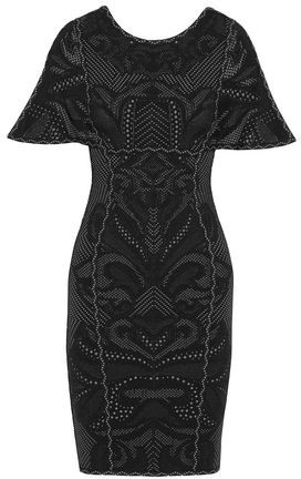 Herve Leger Janie Jacquard-Knit Mini Dress