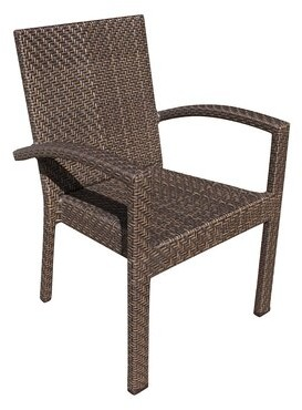 Andover Mills Ferraro Stacking Patio Dining Chair Color: Rehau Java Brown