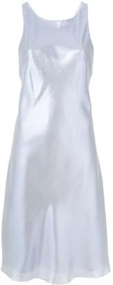 Alberta Ferretti Lame Racer Back Dress