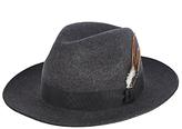 Christys' Grosvenor Fedora Hat, Charcoal