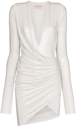 Alexandre Vauthier Gathered Crystal-Embellished Mini Dress