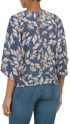 Juniors Kimono Sleeve Top