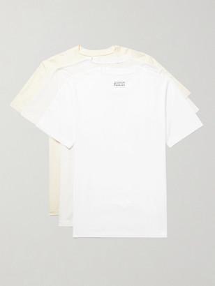 Maison Margiela Three-Pack Cotton-Jersey T-Shirts